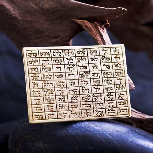 72 Names Tablet Gold