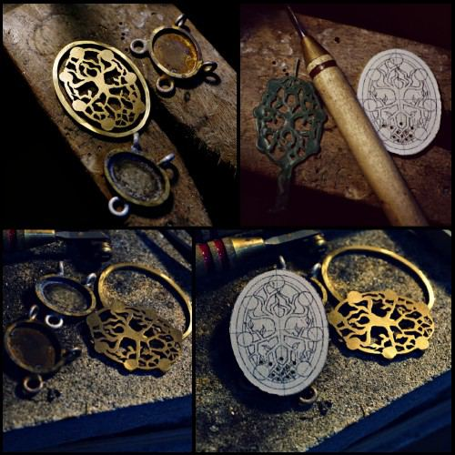 Alchemical Cosmic Tree Bracelet Silver
