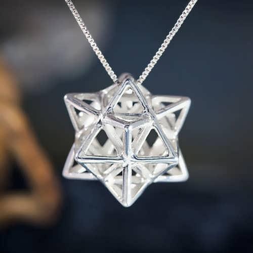 Alchemy/Vector Equilibrium Pendant Silver