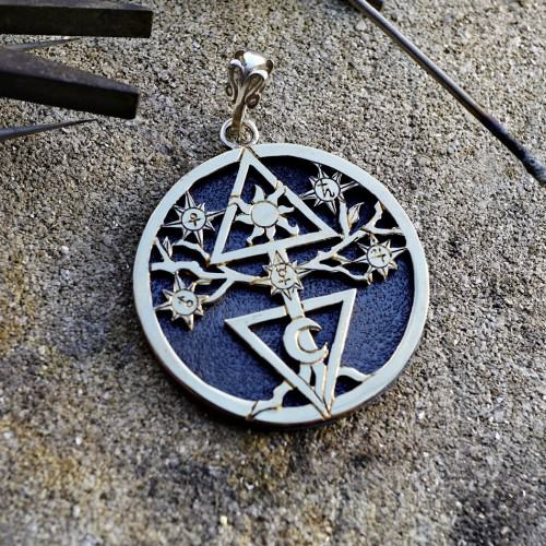 Alchemical Cosmic Tree Silver