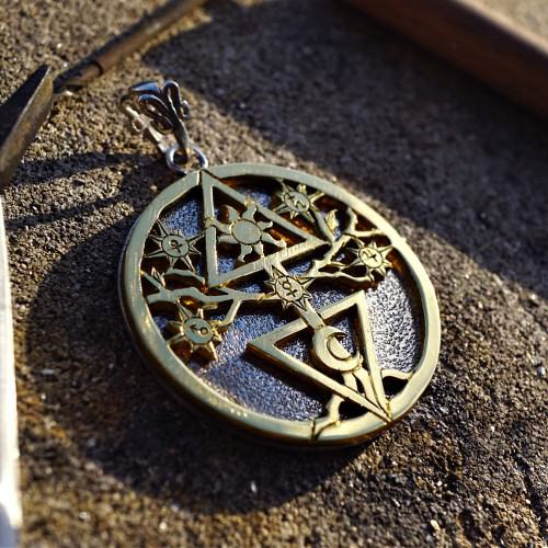 Alchemical Cosmic Tree Silver and Gold
