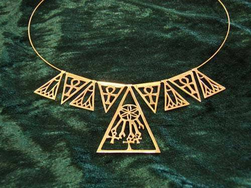 Ankh And Lotus Necklace Gold