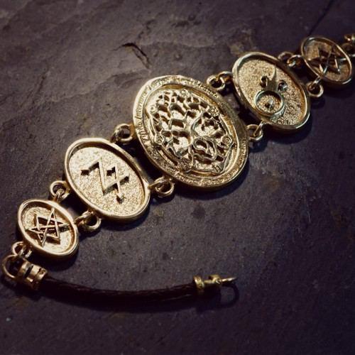 Alchemical Cosmic Tree Bracelet Gold