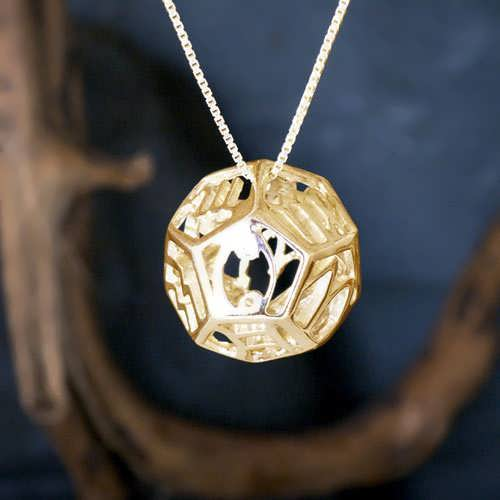 Cosmic Zodiac Pendant Gold