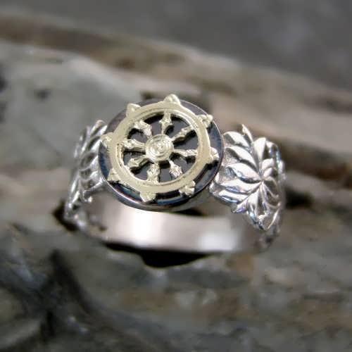 טבעת הדהרמה כסף וזהב
