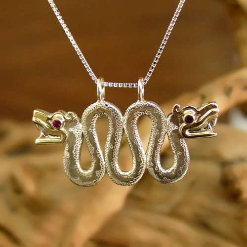 Double-Headed Serpent Silver and Gold
