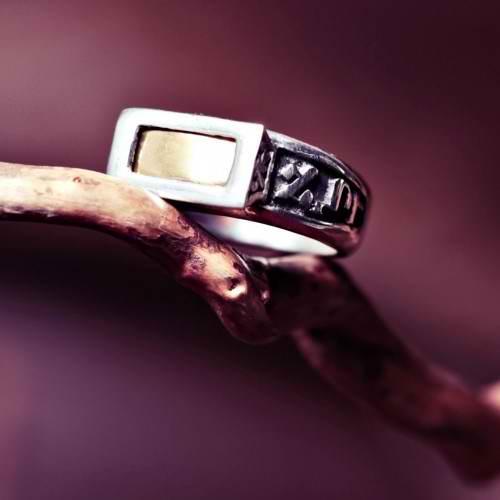 Кольцо «Пять металлов», серебро