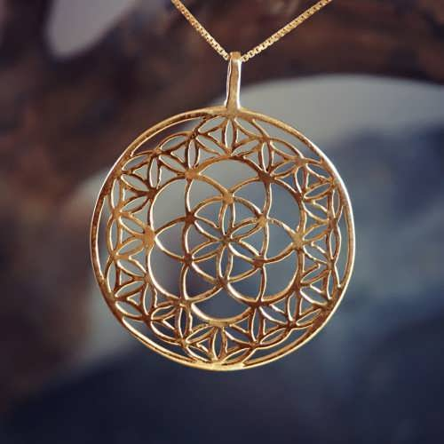 Flower and Seed of Life Gold