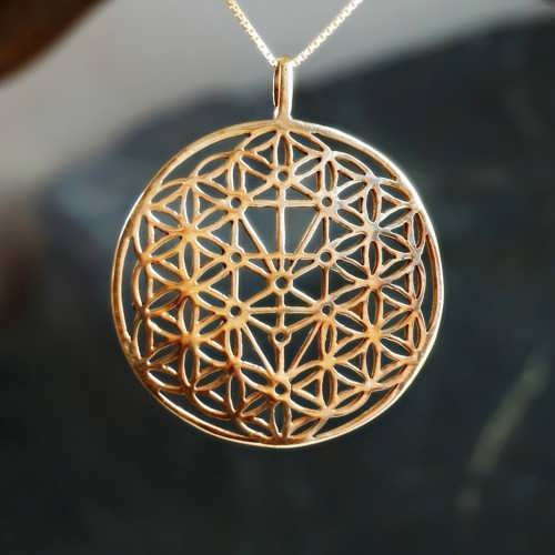 Flower of Life with Tree of Life Gold