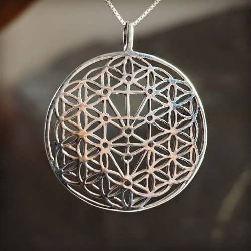 Flower of Life with Tree of Life Silver