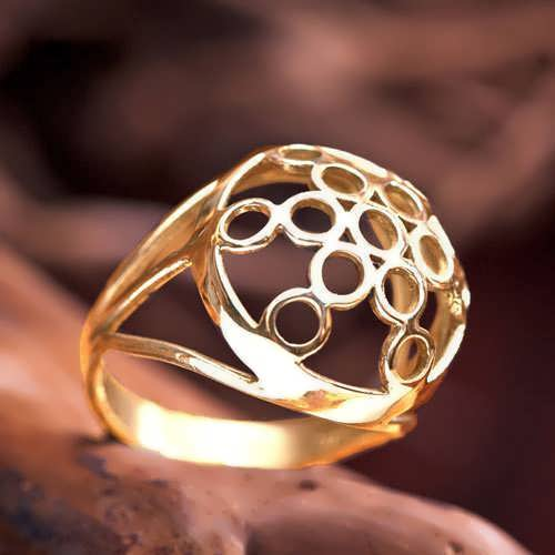 Fruit of Life Ring Gold
