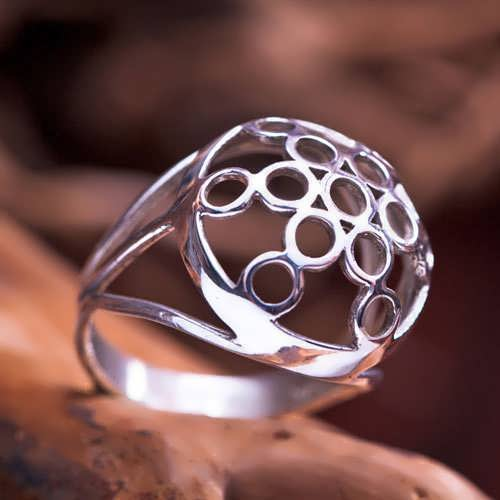 Fruit of Life Ring Silver