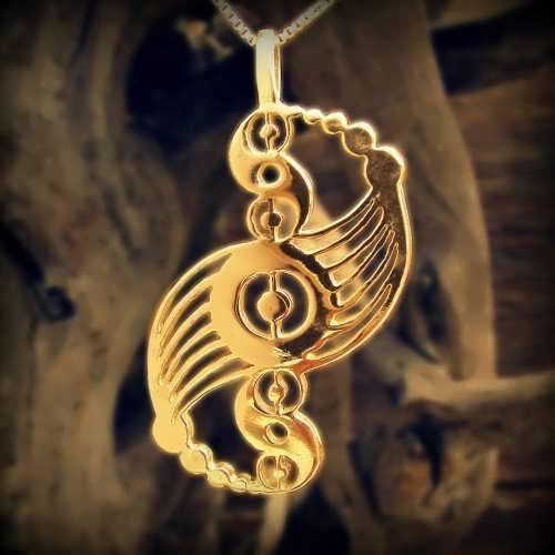 Кулон «Галактическая гармония», золото