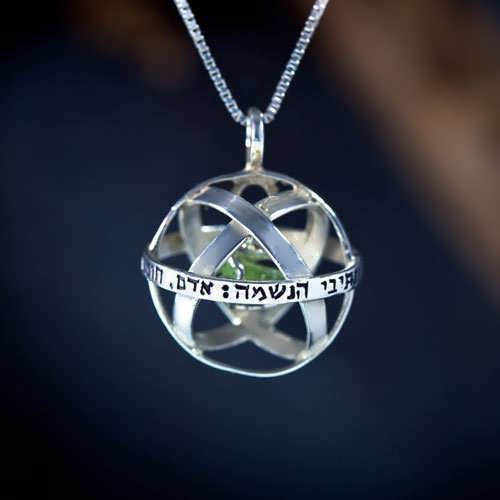 Genesa Crystal Silver With Crystal with Peridot