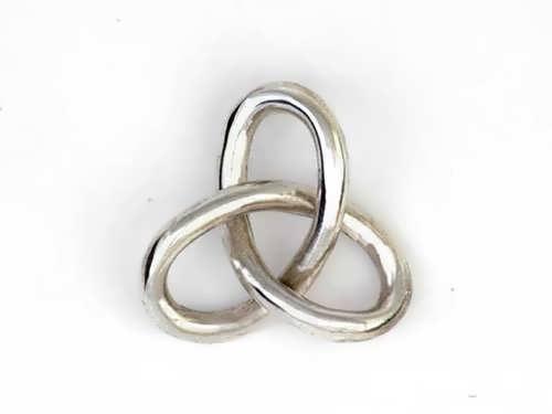 Кулон «Гордиев узел», серебро, большой