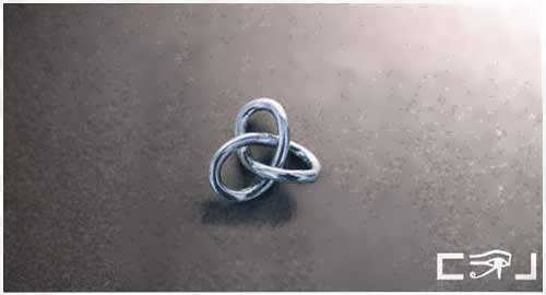 Gordian Knot Pendant Silver Small