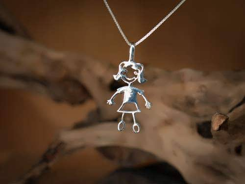 Happiness Pendant (girl) Silver