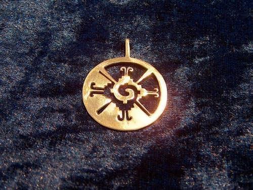 Hunab Ku Pendant Gold