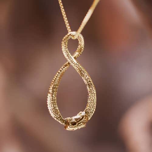Infinity Dragon Pendant Gold
