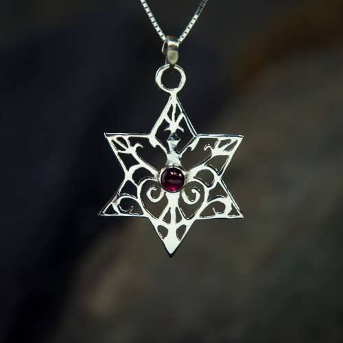 Inlaid Star of David - Silver