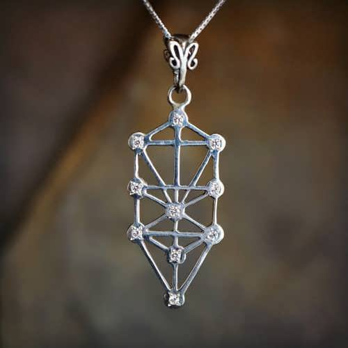 Inlaid Tree of Life Silver