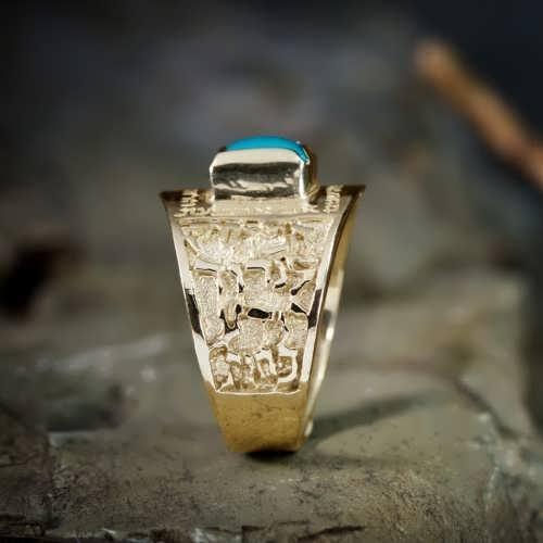 Voyage de la vie anneau or