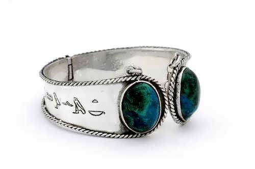 Ka Bracelet Silver with Chrysocolla