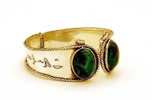 Ka Bracelet Gold with Chrysocolla
