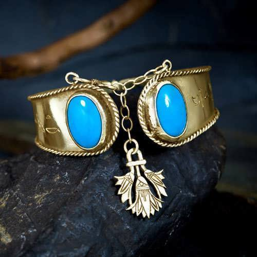 Ka Bracelet Gold with Turquoise