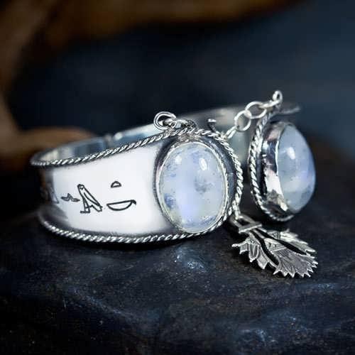 Ka Bracelet Silver with Moonstone