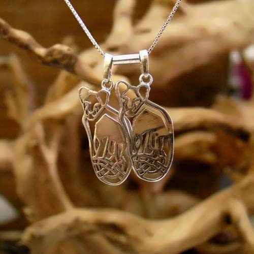 Lion Cubs For Mother's Pendant Silver