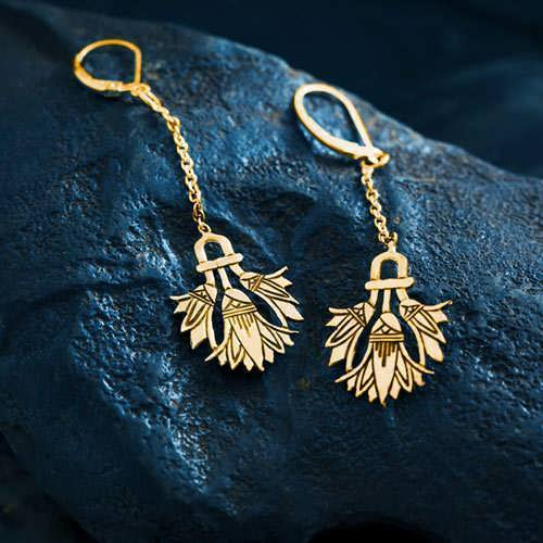 Lotus Earrings Gold