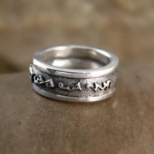 Universal Lunar Talisman Ring Silver
