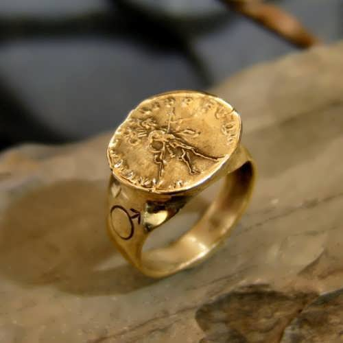 Mars In Capricorn Talisman Ring gold