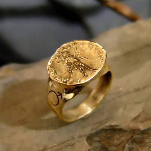 Mars In Capricorn Talisman Ring gold