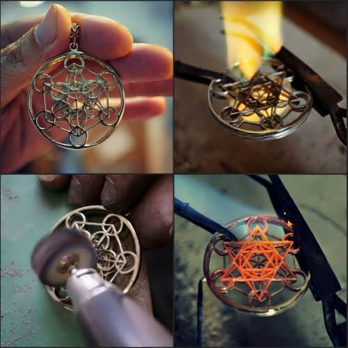 Cubo Metatron oro and Silver