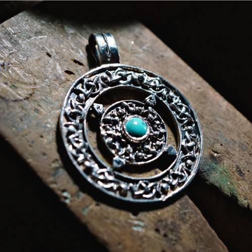 Norse Amulet with Turquoise