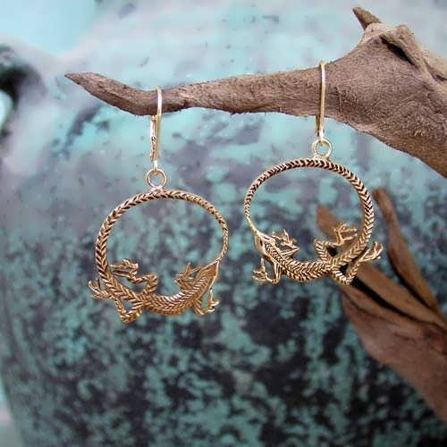 Ouroboros Earrings Gold