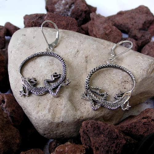 Ouroboros Earrings Silver