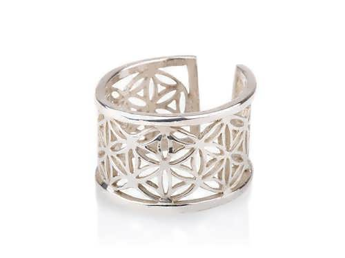 Pattern of Life Ring Big Silver
