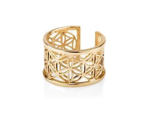 Pattern of Life Ring Small Gold