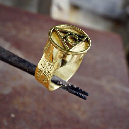 Philosophe's Stone Ring Gold