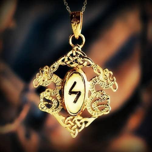 Die Runen - Goldanhänger