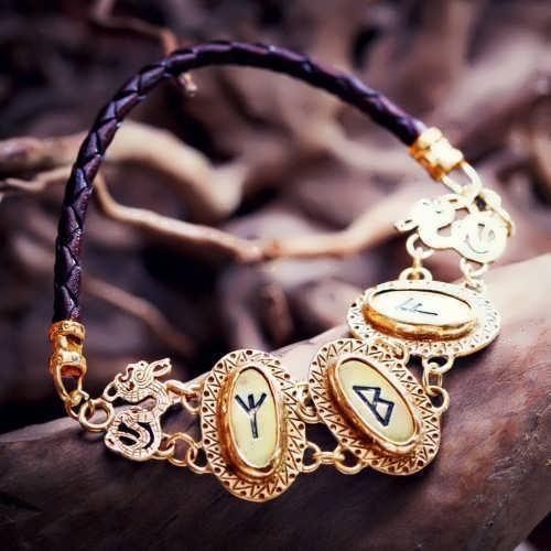 צמיד רונים - זהב