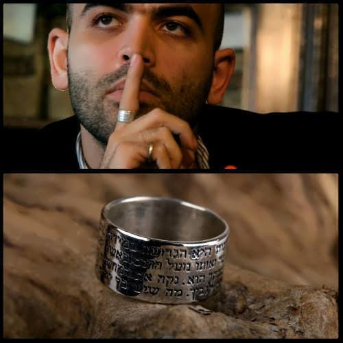 Roberto Saviano the Italian writer with the ring of courage