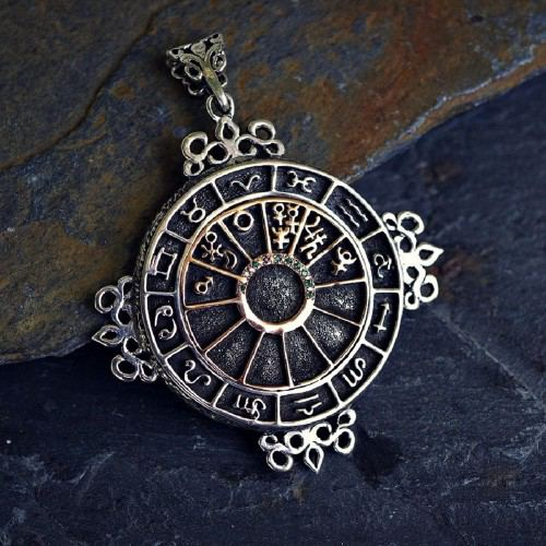 Personalized Cosmic Sigil Talisman Silver and Gold
