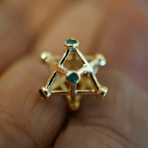 Inlaid Merkaba Gold Small
