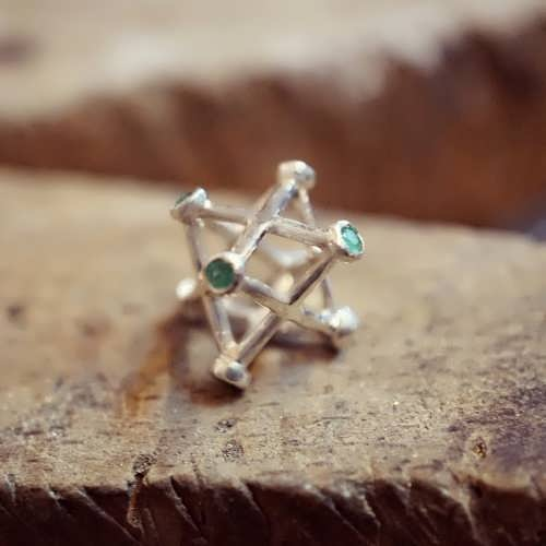 Inlaid Merkaba Silver Small
