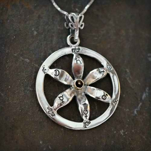 Solar Flower Equinox Talisman Silver and Gold (*Limited Edition*)