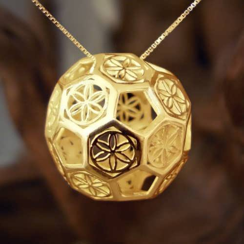 Sphere of Consciousness Gold Pendant